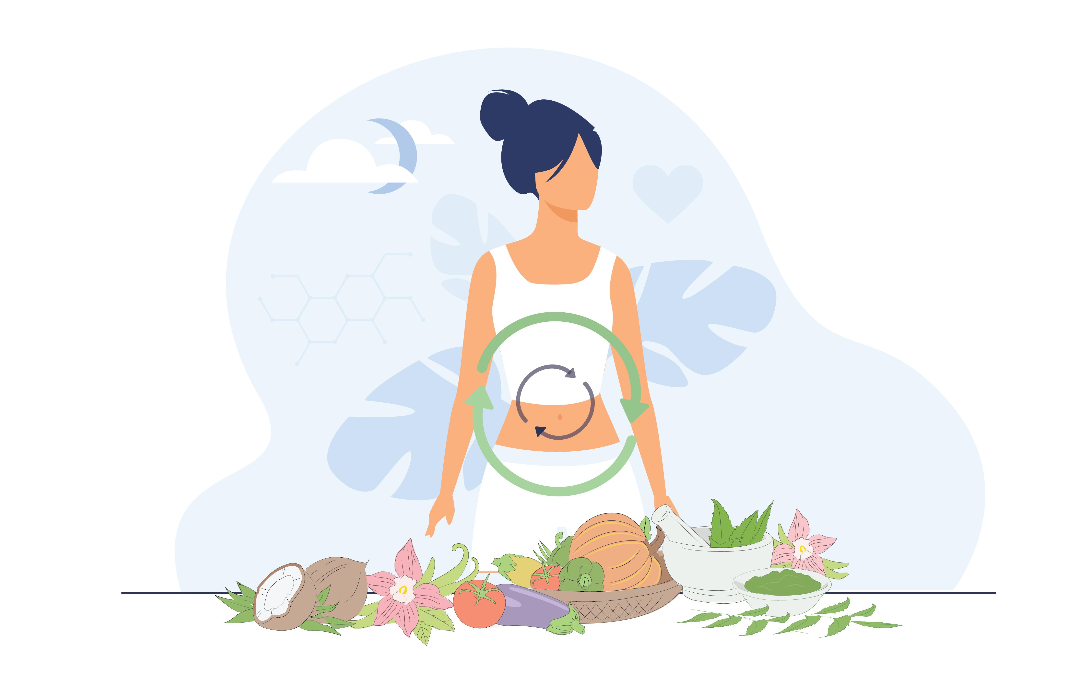 Improve gut heath through Ayurveda and Yoga